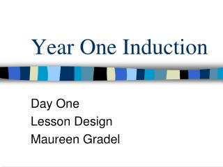 Year One Induction