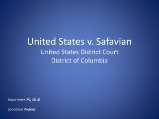 United States v. Safavian United States District Court  District of Columbia
