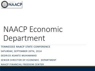 NAACP Economic Department