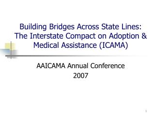 AAICAMA Annual Conference 2007