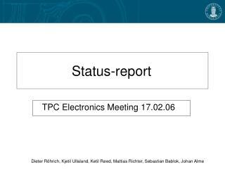 Status-report