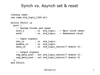 Synch vs. Asynch set & reset