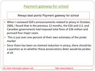 Find more information about payment gateway for school