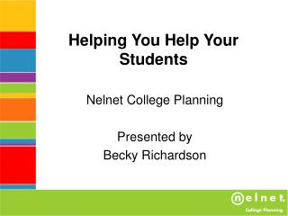 Helping You Help Your Students