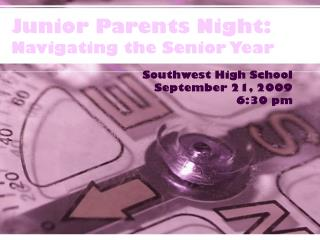 Junior Parents Night: Navigating the Senior Year