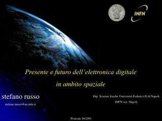 Presente e futuro dell'elettronica digitale  in ambito spaziale