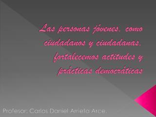 Profesor: Carlos Daniel Arrieta Arce.