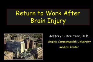Return to Work After Brain Injury