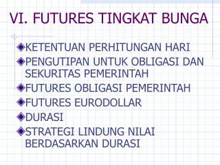 VI. FUTURES TINGKAT BUNGA