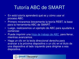 Tutoría ABC de SMART