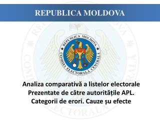 A naliz a  comparativă a listelor electorale  Prezentate de către autoritățile  APL .