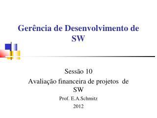 Gerência de Desenvolvimento de SW
