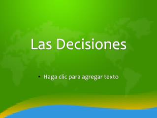 Las Decisiones