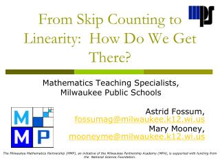 From Skip Counting to Linearity:  How Do We Get There?