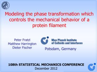 Modeling the phase transformation which controls the mechanical behavior of a protein filament