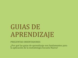 GUIAS DE APRENDIZAJE