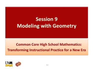 Session  9  Modeling with Geometry