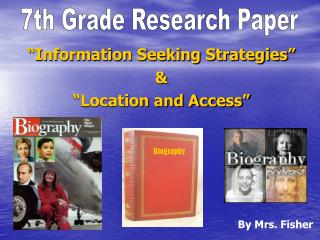Information Seeking Strategies    Location and Access