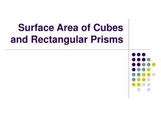 Surface Area of Cubes and Rectangular Prisms