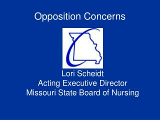 Lori Scheidt Acting Executive Director Missouri State Board of Nursing