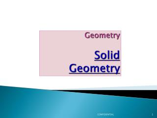 Geometry Solid Geometry