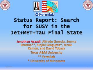Status Report: Search for SUSY in the JetMETTau Final State