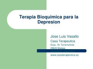 Terapia Bioquimica para la Depresion