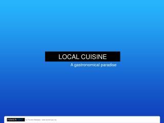 11 - Local Cuisine