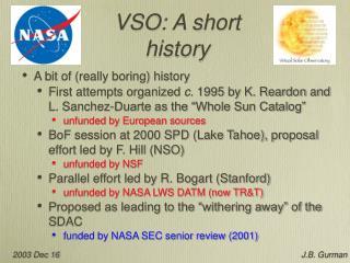VSO: A short history