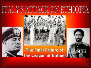 ITALY'S ATTACK ON ETHIOPIA