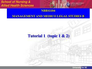 Tutorial 1  (topic 1 & 2)