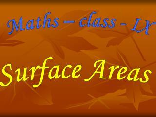 Maths – class - IX