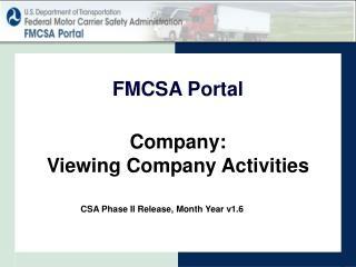 Company: Viewing Company Activities
