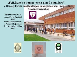 a Hansági Ferenc Vendéglátóipari és Idegenforgalmi Szakiskola és Szakközépiskolában