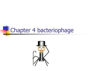 Chapter 4 bacteriophage