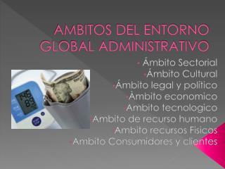 AMBITOS DEL ENTORNO GLOBAL ADMINISTRATIVO