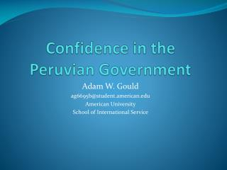 Confidence in the Peruvian Government