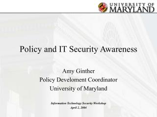 Policy and IT Security Awareness