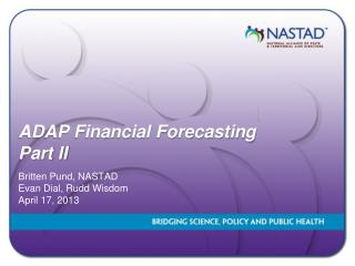 ADAP Financial Forecasting Part II
