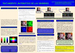 TRATAMIENTO MATEMÁTICO DE LAS IMÁGENES
