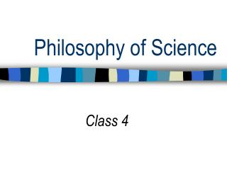 Philosophy of Science