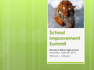 School Improvement Summit