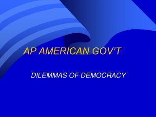 AP AMERICAN GOV'T