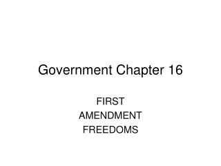 Government Chapter 16