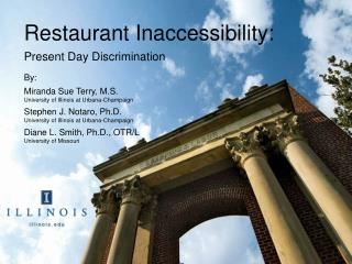 Restaurant Inaccessibility:
