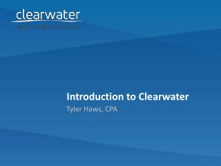 Introduction to Clearwater