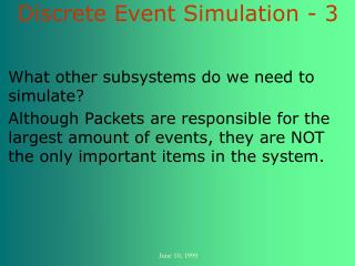Discrete Event Simulation - 3