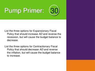 Pump Primer :