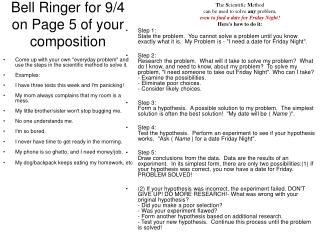 Bell Ringer for 9/4 on Page 5 of your composition
