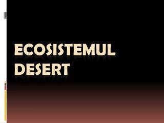 Ecosistemul Desert